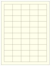 """1.5"""" x 1"""" 50UP Pastel Yellow Laser Labels"""