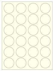"1.625"" Diameter 24UP Pastel Yellow Circle Labels"