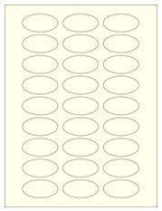 """2"""" x 1"""" 27UP Pastel Yellow Oval Labels"""