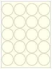 "2"" Diameter 20UP Pastel Yellow Circle Labels"