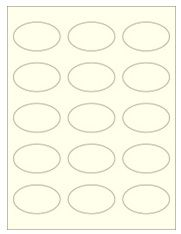 """2.375"""" x 1.4375"""" 15UP Pastel Yellow Oval Labels"""