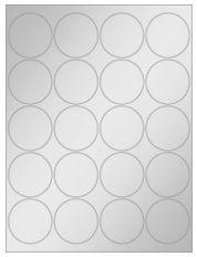 """2"""" Diameter 20UP Silver Foil Laser Labels"""