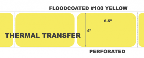Thermal Transfer Labels - #100 Yellow