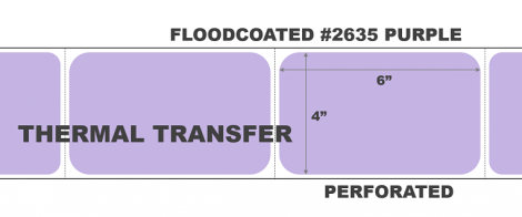 Thermal Transfer Labels - #2635 Purple