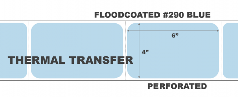 Thermal Transfer Labels - #290 Blue