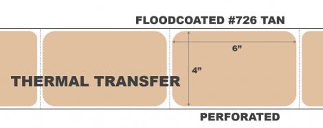 Thermal Transfer Labels - #726 Tan