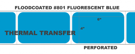 Thermal Transfer Labels - #801 Fluorescent Blue