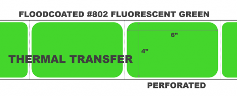 Thermal Transfer Labels - #802 Fluorescent Green