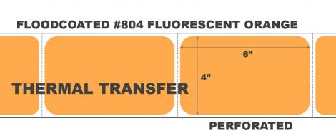 Thermal Transfer Labels - #804 Fluorescent Orange