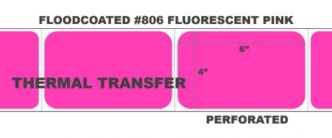 Thermal Transfer Labels - #806 Fluorescent Pink
