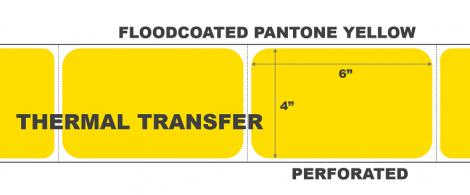 Thermal Transfer Labels - Pantone Yellow