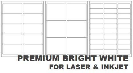 Premium Bright White Laser & Inkjet Labels