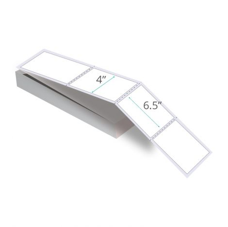 """4"""" x 6.5"""" Thermal Transfer Labels - Fanfolded"""