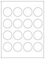 """1.75"""" Circle Labels"""