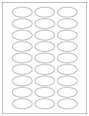 """2"""" x 1"""" Oval Labels"""