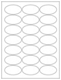 """2.5"""" x 1.375"""" Oval Labels"""